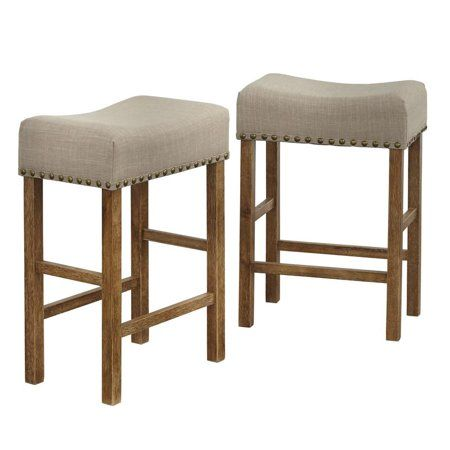 Hathaway 24 Inch Counter Height Nailhead Stool Size 24 Inch Bar
