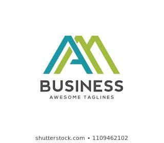 Creative Letter Am Logo Design Template Elements Logo Images