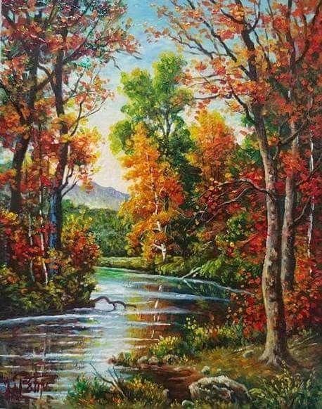 Pin By Elizabeth Araya Cruz On Peisaje Cu Flori Landscape Art Painting Landscape Paintings Landscape Paintings Acrylic