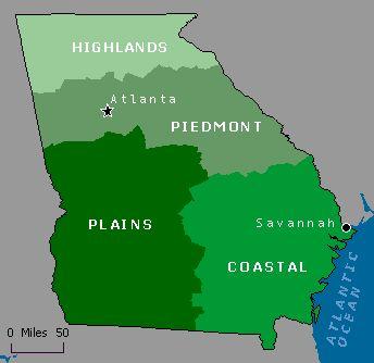 Map Of Georgia Landforms.Georgia Regions And Rivers Mixbook Photo Book Education