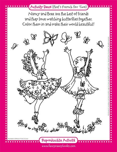Pin By Lori Dawn Pollock On Printables For Children Fancy Nancy Coloring Pages Fancy Nancy Party