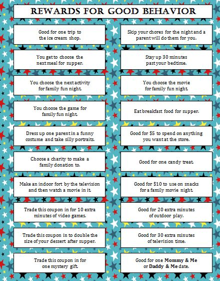 Rewards for good behavior free printable free printable free