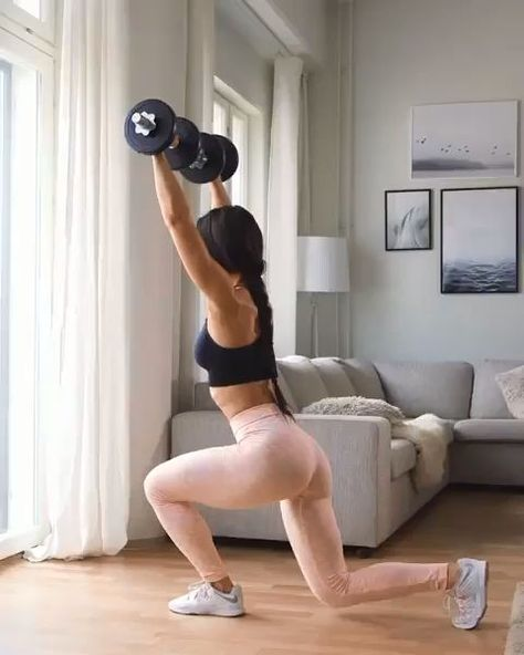 Workout at Home With Dumbbells - Dumbbell - Ideas of Dumbbell #Dumbbell - Legs Dumbbell Workout There can be many reasons why people cant use a barbell. It could be because of back pain or your general dislike for the barbell. #WorkoutAtHome #AtHomeWorkout #WorkoutforWomen