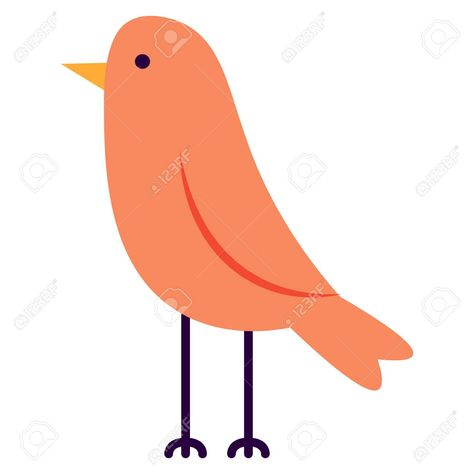 Vector Cartoon Cute Bird Isolated On White Background Illustration , #Affiliate, #Cute, #Bird, #Vector, #Cartoon, #Background