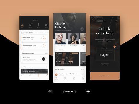 Classica — App design for #designflow 2019
