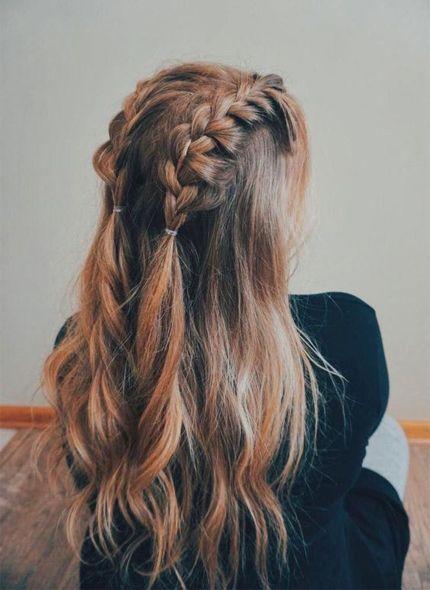 Braided Hairstyle Medium Length Hair Styles Diy Hairstyles Easy Medium Hair Styles