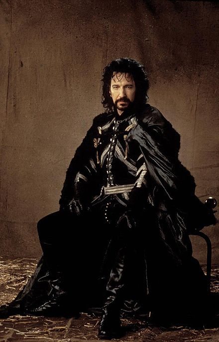 """Alan Rickman as the Sheriff of Nottingham in 1991's """"Robin Hood"""" Prince of Thieves"""