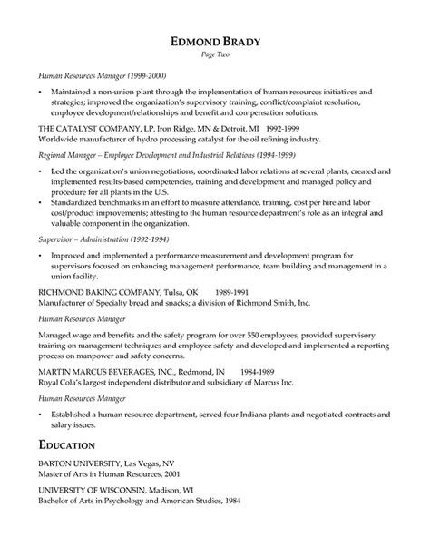 HR Executive Resume Example Sample resume, Executive resume and - human resources manager resume