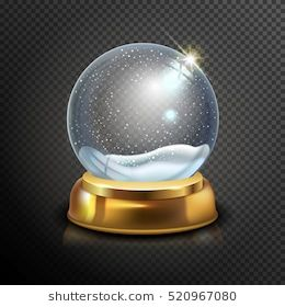 Realistic Christmas Glass Snow Globe Isolated On Transparent Background Vector Illustration Winter In Glass Ball Magic Christmas Crys Snow Globes Snow Glass