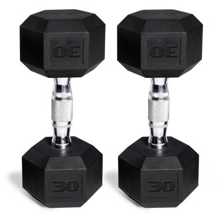 Premium Quality XMark Fitness Sold in Pairs Rubber Coated Hex Dumbbells are Built Tough Built to Last