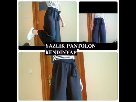 Esofman Dikimi Bol Pantolon Dikimi Kendin Dik Youtube Kadin Pantolonlari Pantolon Palazzo Pantolon
