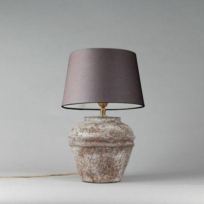 Die Tischleuchte Arta Xs Vintage Mit Lampenschirm 25cm Braun Grau Das Indirekte Licht Dieser Tischleuchte Wird Prob Lampenlicht Indirektes Licht Lampenschirm