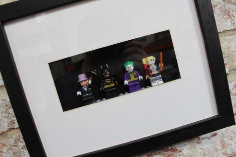 Dc Batman And Villains Minifigure Frame 4 Characters Frame Batman Wall Art