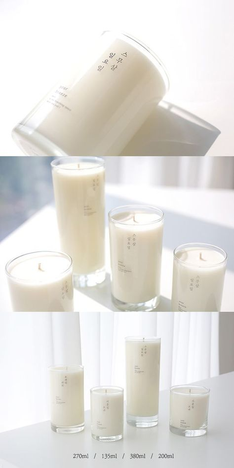 Minimalist Clear Candle Label