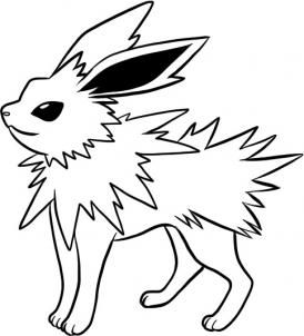Coloring Jolteon Pages Pokemon 2020 Pokemon Coloring Pages