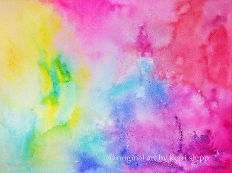 Abstract watercolor 'Fusion' 11x14 NEW print