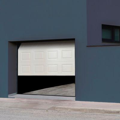 Porte De Garage Sectionnelle A Cassettes Blanche Paris L 300 X H 200 Cm Pre Montee En 2020 Porte De Garage Sectionnelle Porte Garage Et Garage