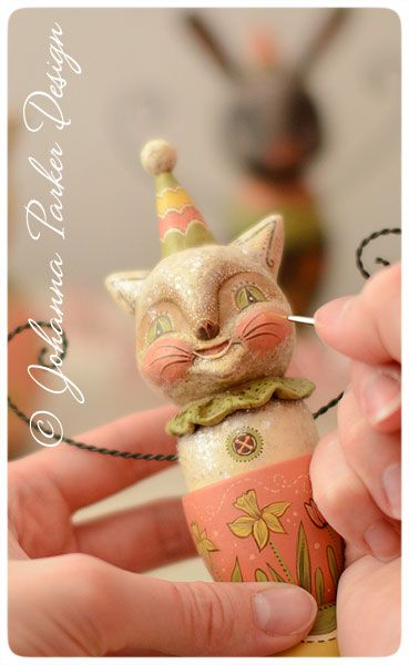 paper clay party cat