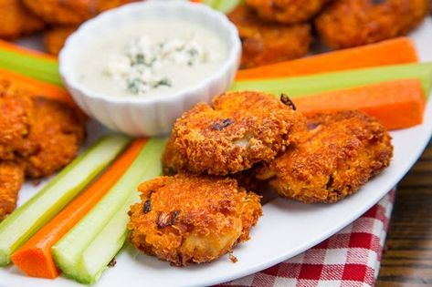 Buffalo Chicken Quinoa Fritters