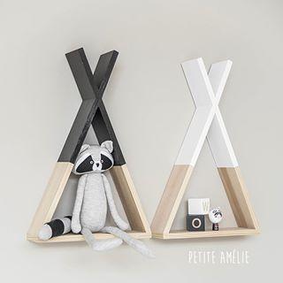 Our Tipi Shelf In White Or Black Notre Etagere Tipi En