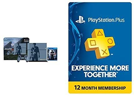 Amazon Com Playstation 4 500gb Console Uncharted 4 Limited Edition Bundle 1 Year Playstation Plus Members Playstation Playstation Games Cool Things To Buy
