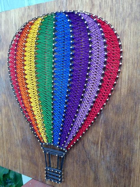 Hot Air Balloon String Art image 3