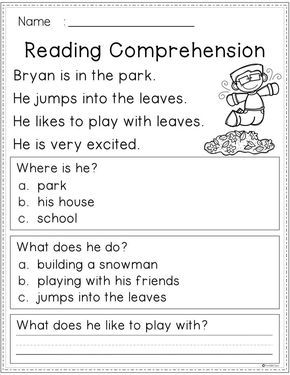 Free Reading Comprehension Reading Comprehension Worksheets Reading Comprehension Reading Worksheets Free reading and writing worksheets for