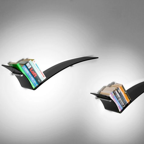 Accessori Per Mensole In Vetro.Tre Mensole Ok Design In Vetro Nero Per Cucina Un Tris Di Mensole