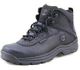 Timberland White Ledge Mid Wp Men Round Toe Leather Black Hiking Boot.