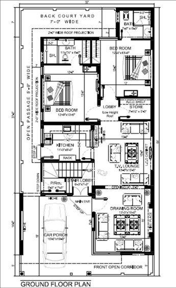 Beautiful Contemporary Home Plan 10 Marla House Plan Model House Plan My House Plans