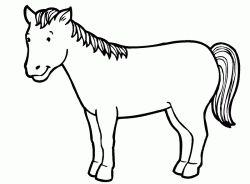 At Boyama Sayfasi Horse Coloring Pages Pagina Para Colorear De