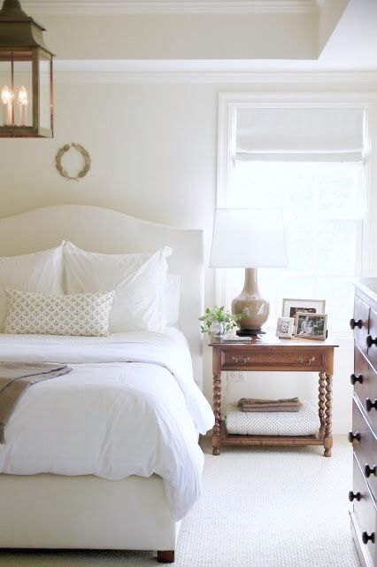 Perfect White Roman Shade In This Serene Tradtional Bedroom Master Enchanting Roman Shades Bedroom Style Collection