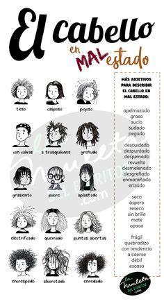 Adjetivos Para Describir Los Cabellos Mas Desastrosos De Tus Personajes Mas Desenfadados En 2020 Cabello Tutoriales De Peinados Cabello Cortito