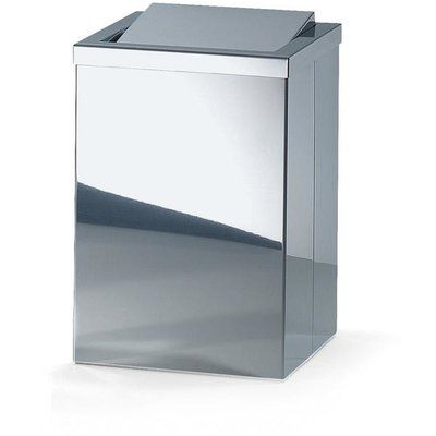 Agm Home Store Square Stainless Steel Swing Top Trash Can Agm Home Store Trash Can Simple Bathroom Stainless steel swing top trash can