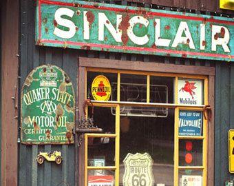 Standard Gas Station Sign Vintage Aged Style Or New Style Etsy In 2020 Old Gas Stations Gas Station Garage Art