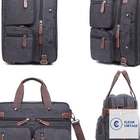 Clean Vintage Hybrid Backpack Messenger Bag | Convertible