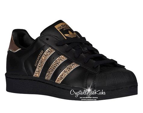 sports shoes 40d4f 6ac8a Adidas Original Superstar Made with by CrystallizedKicks on Etsy