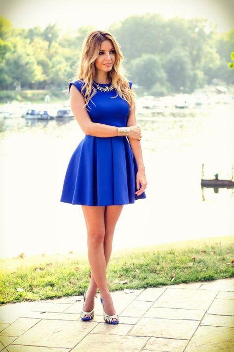 Vestidos Cortos Elegantes Vestidos Cortos Vestidos Azules