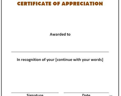 Get Certificate of Recognition Template Sample u2013 Microsoft Office - it project business case template