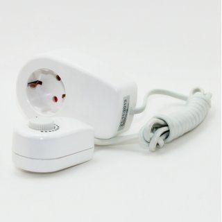 Lampen Steckdosen Zwischendimmer Weiss Mit 1 6m Kabel Zuleitung 20 300w 230v Steckdosen Kabel Lampen