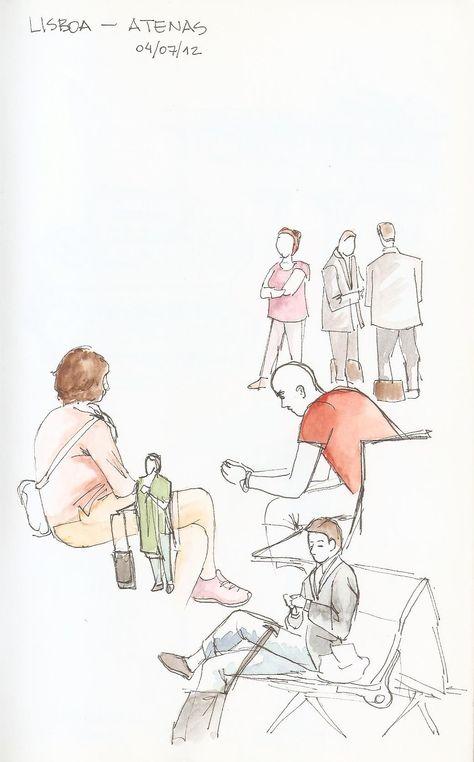 drawing people in the beach mykonos larybee pinterest drawing people and drawings