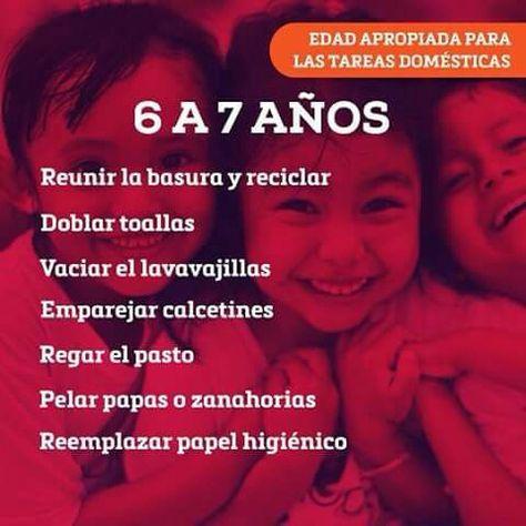 Responsabilidades Para Ninos De 6 A 7 Anos Tareas Para Ninos