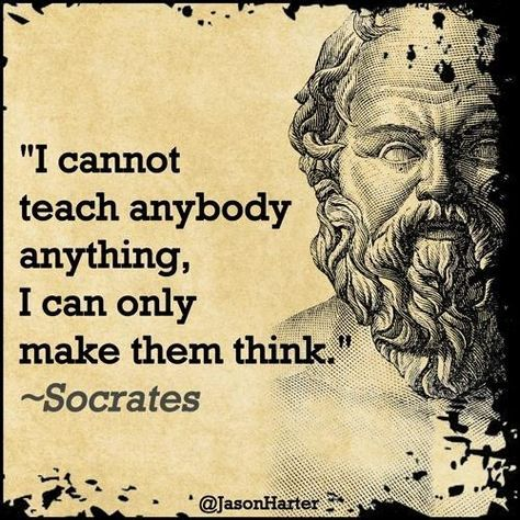 I cannot teach anybody anything, I can only make them think.                        #entrepreneurship #emprendedurismo #entrepreneurs #emprendedores