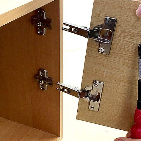 スライド丁番 蝶番 家具 扉の修理に 画像あり 蝶番 扉 家具