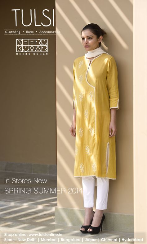 Fashion - Happiest colur in monsoons I like this design might make something similar