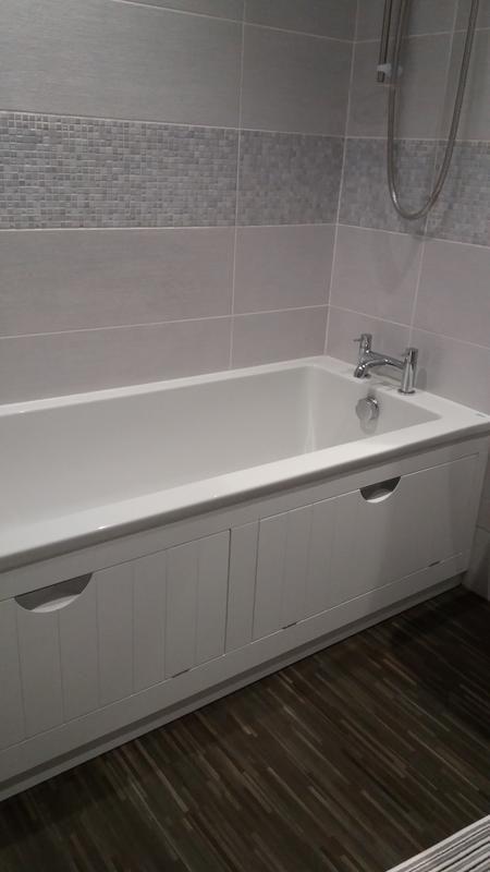Home Improvements My Bathroom Makeover Bath Panel Storage Ideas And