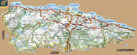 Mapa De Asturias Mapas Mapas De Carreteras Y Google Imagenes