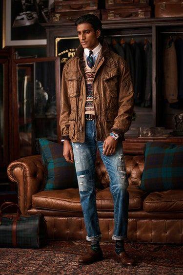 Polo Ralph Lauren Homme Automne Hiver 2020 2021 Defiles Vogue Paris Pantalones Vaqueros Hombre Polo Ralph Lauren Moda Masculina