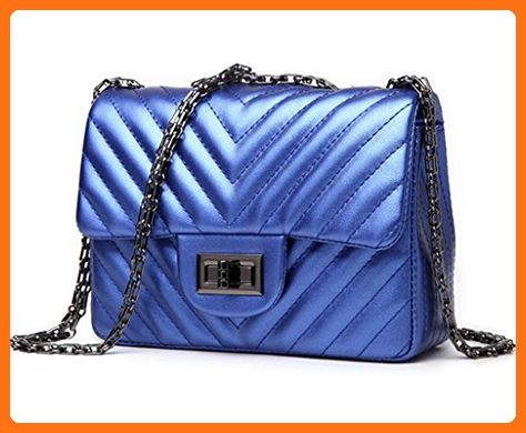 Katoony Girls PU Leather Fashion Diamond Handbag Chains Cross Body Shoulder Bag Satchel Clutch Purse - Top handle bags (*Amazon Partner-Link)