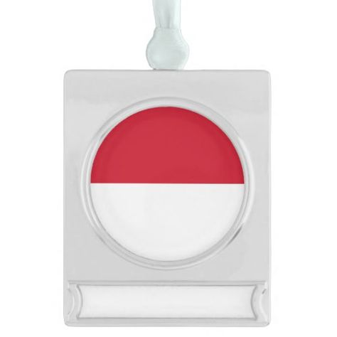 Indonesia Flag Silver Plated Banner Ornament Zazzle Com Indonesia Flag Banner Flag